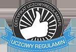 Sklep certyfikowany - Uczciwy Regulamin